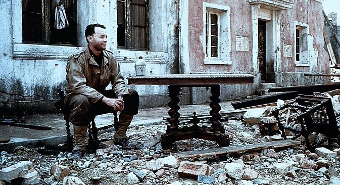 "Steven Spielberg's 1998 global blockbuster, ""Saving Private Ryan,"" would help to bring about a renewed dialogue between American and Russian films. Source: Kinopoisk"