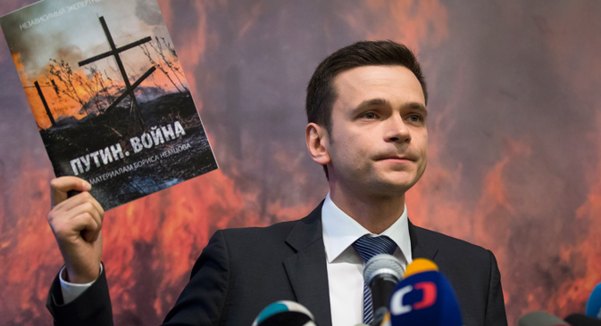 "Ilya Yashin, a member of the RPR-PARNAS Political Council: ""Everything that we published corresponds to reality and has been verified in various sources"". Source: AP"
