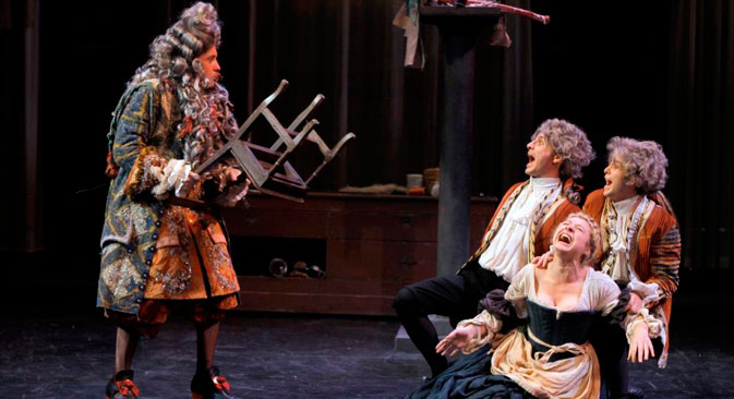 "The 12th Chekhov International Theatre Festival opens May 13 with ""The Bourgeois Gentleman"" (Le Bourgeois Gentilhomme) staged by Denis Podalydes of the Theatre des Bouffes Du Nord in Paris. Source: Press photo"