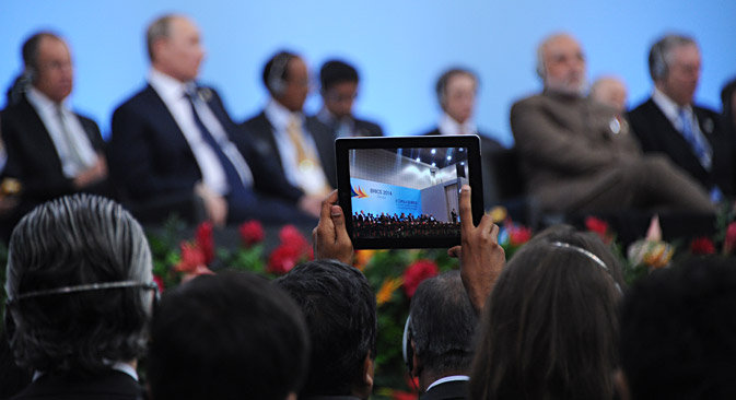 Russian President Vladimir Putin attends the 4th BRICS summit at the Fortaleza Convention Center, Brazil. Source: RIA Novosti