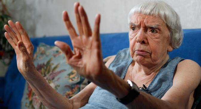 "Lyudmila Alexeyeva: ""Rights activism has no borders."" Source: Reuters"