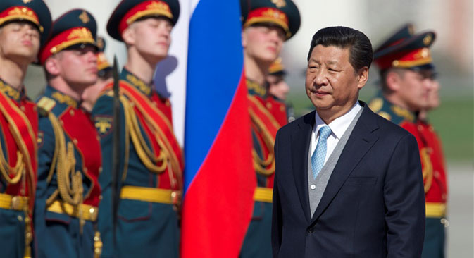 Xi Jinping during his visit to Moscow. Source: AP