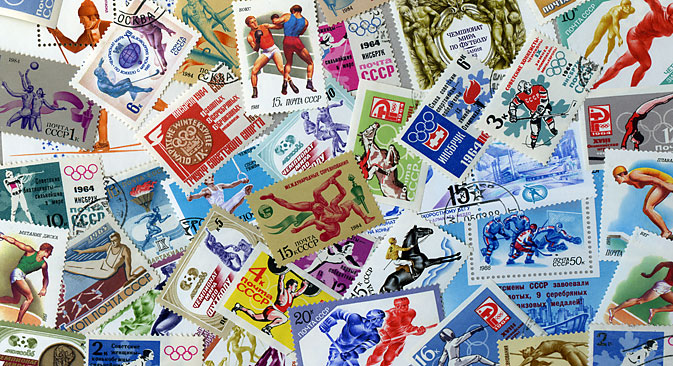 Over the years, sports have inspired stamp designers to create numerous memorable sets. Source: Lori / Legion Media