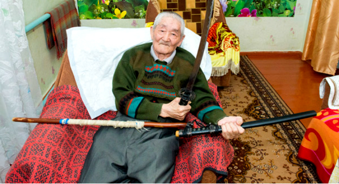 Kalmykia's Samurai: Japanese Ex-POW closes in on 70 years in Russia - http://asia.rbth.com/arts/2015/05/21/kalmykias_samurai_japanese_ex-pow_closes_in_on_70_years_in_russia_46195.html)