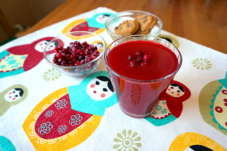 Kissel, a berry juice. Source: Anna Kharzeeva