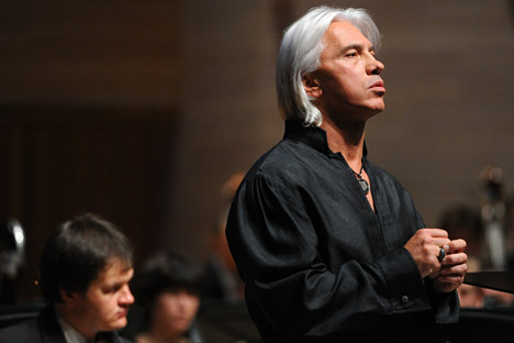 Russian baritone Dmitri Hvorostovsky performing at Moscow's International House of Music. Source: Sergei Karpov/TASS