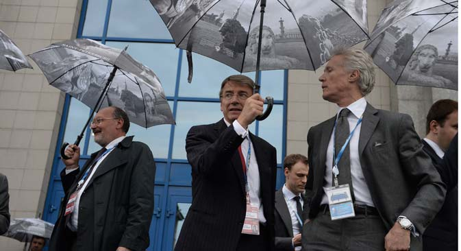 Delegates at the 15th St Petersburg International Economic Forum. Source: Press photo