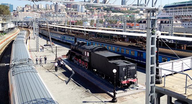 At the Vladivostok train station. Photo by Errol Chopping
