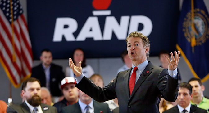 Republican Senator Rand Paul. Source: AP