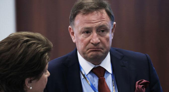 The head of Boeing in Russia and the CIS Sergei Kravchenko at the St. Petersburg International Economic Forum. Source: Sergey Savostyanov / TASS