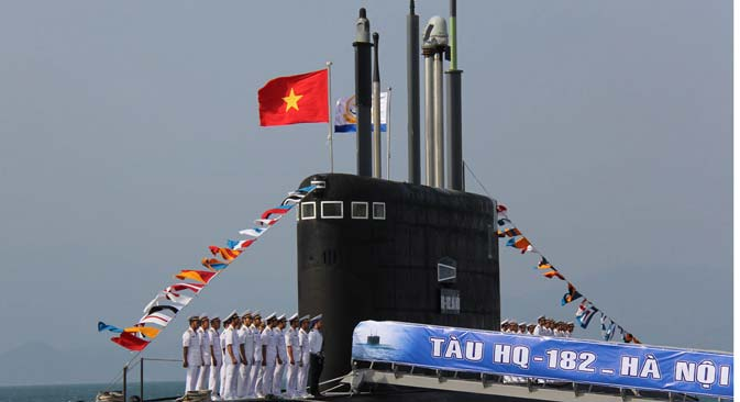 The newly-named Kilo-636 submarine is the first of six diesel-powered 636 Varshavyanka attacking models that Vietnam bought from Russia to enhance its navy' s capacity in defending the country's territorial waters. Source: Photoshot/Vostock Photo