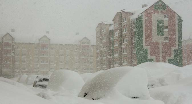 Yuzhno-Sakhalinsk in winter. Source: RIA Novosti