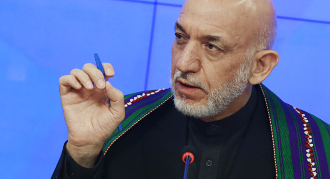 Former Afghan President Hamid Karzai in Moscow. Source: RIA Novosti