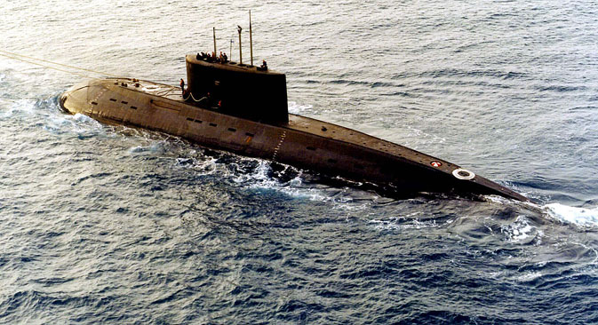 A Russian-built, Kilo-class diesel submarine.‏ Source: Reuters