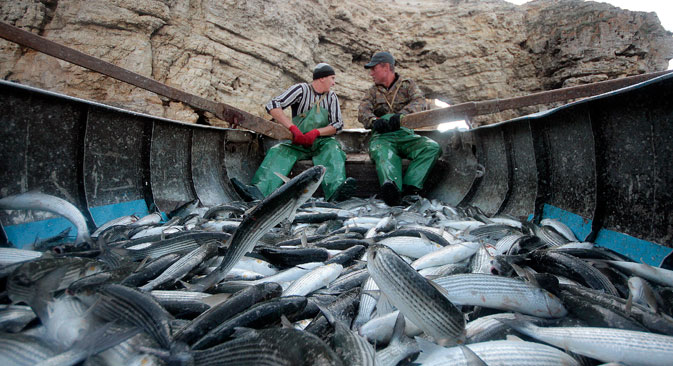 Russian fishing vessels do just not navigate Russian waters. They are found in the North Atlantic, as well as around Africa. Source: Reuters