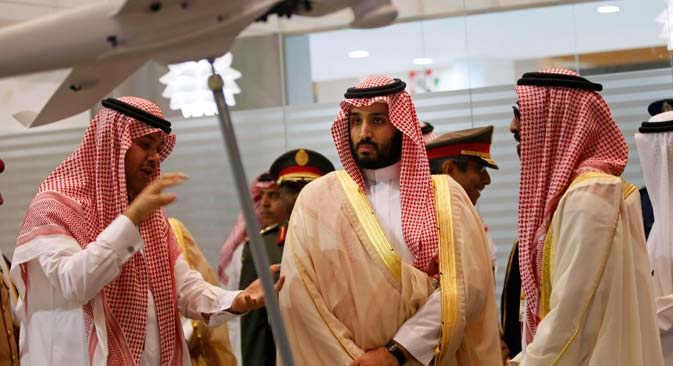 Prince Mohammad bin Salman (Center). Source: Reuters