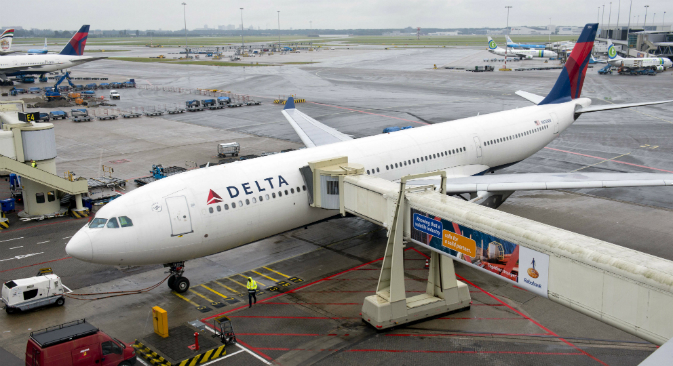 American Delta Air Lines plans to halt its New York–Moscow service in December 2015. Source: Reuters