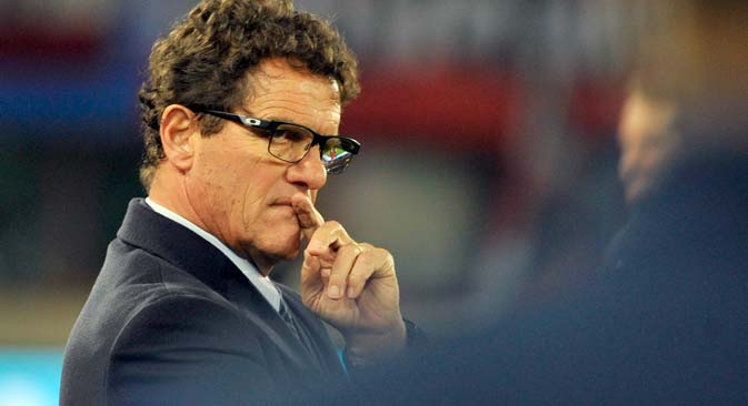 Fabio Capello was appointed head coach of the Russian national team on July 26, 2012. Source: EPA