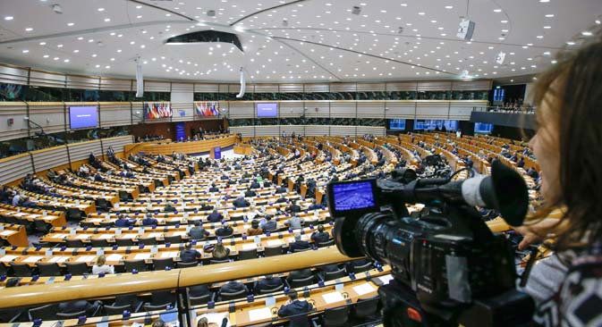 "The European Parliament passed a resolution that criticizes Russia for violation of democratic principles, fundamental values and international law, and more than once refers to the ""illegal annexation of Crimea."" Source: EPA"