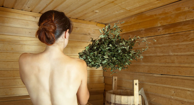 "Being ""beaten"" with twigs is an essential part of the banya experience. Source: Lori / Legion Media"