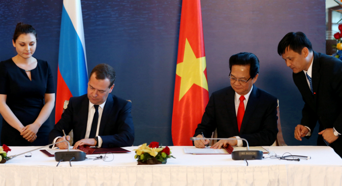 The Vietnam FTA opens the door for other countries in Asia. Source: Government.ru