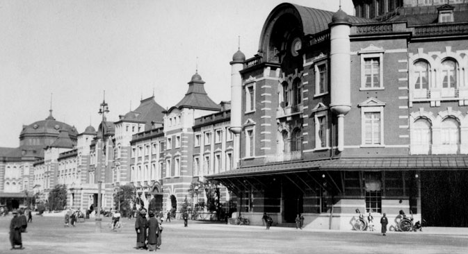 Tokyo Central Station in the 1920s. Sourse: Ullstein