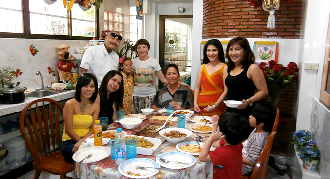Filipino friends and families party at Aunty Lita's house. Source: Personal archive