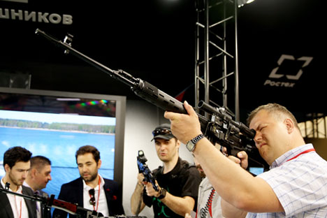 The Kalashnikov stand at the Army 2015 International Military Technical Forum, Moscow, June 17, 2015.