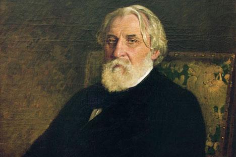 Ivan Turgenev, portrait by Ilya Repin, 1874