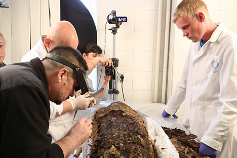 According to archeologists, the mummy is well preserved. Source: Press photo
