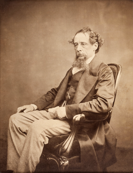 A photograph of Charles Dickens, circa 1860s. Source: Heritage Auction Gallery