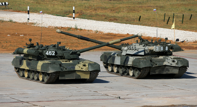The main prize for the foreign teams is the new principal combat tank of the Russian armed forces, the T-90. Source: Press photo