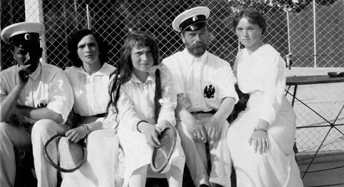 Tsar Nicholas II of Russia with his daughters on the tennis court, early 20th century. Source: Alamy/Legion Media