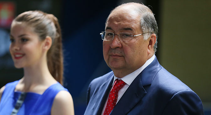 Russian billionaire and president of the International Federation of Fencing Alisher Usmanov. Source: EPA