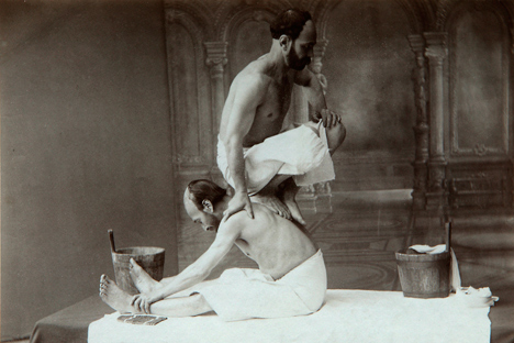 'The Oriental bath. Massage'. Found in the collection of the Russian Museum of Ethnography. Source: Getty Images / Fotobank