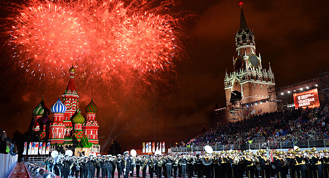 The opening ceremony of the Spasskaya Tower International Military Music Festival in Red Square, 2013. Source:  Maksim Blinov /  RIA Novosti