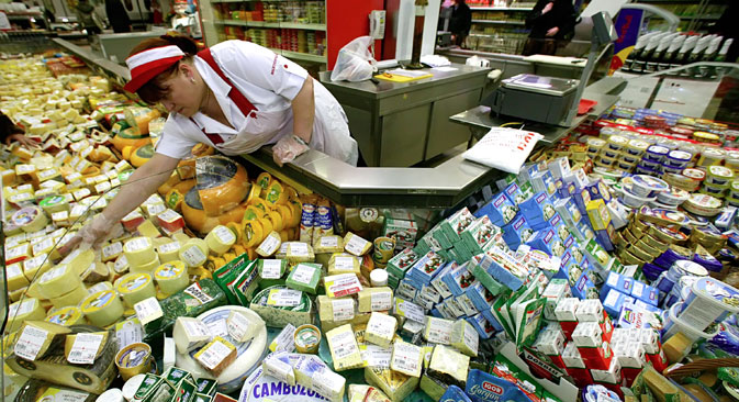 Russian stores may soon be stocking Greek cheeses again if Moscow decides to grant Athens an exemption from its embargo on EU food imports. Soource:  Igor Chuprin / RIA Novosti