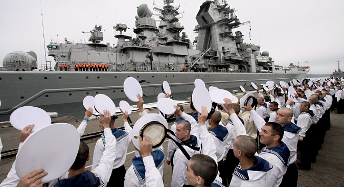 Sailors of the northern navy. Source: Vitaly Ankov / RIA Novosti