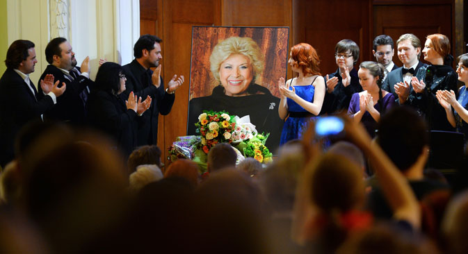 The concert in memory of Yelena Obraztsova at the Tchaikovsky Moscow Conservatory's Small Hall. Source: Vladimir Astapkovich / RIA Novosti