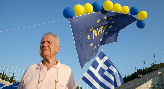 Over 61 percent of Greeks voted against the bailout plan proposed by European creditors. Source: Reuters