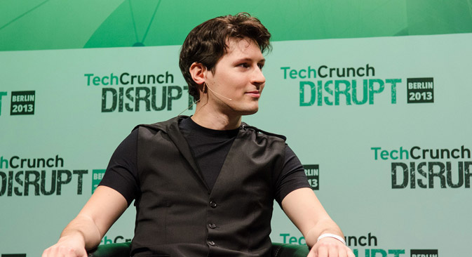 Pavel Durov, founder of the Telegram app. Source: TechCrunch