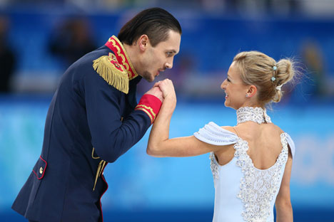 Tatiana Volosozhar and Maxim Trankov. Source: Getty Images