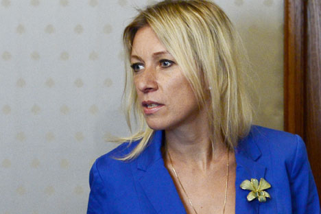 Maria Zakharova: Moscow has never said whether it supported or did not support Assad