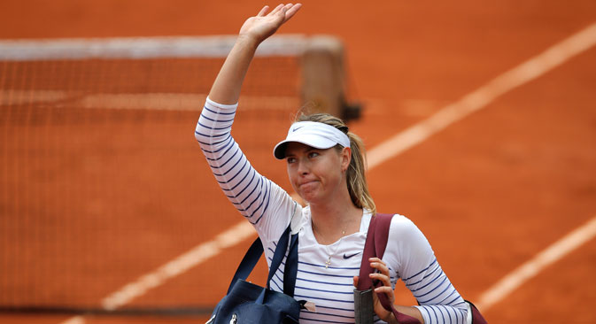 Maria Sharapova. Source: AP