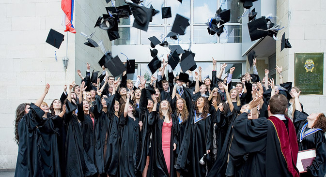 The World Foreign University Student Association has one and a half million potential members. Source: Kommersant