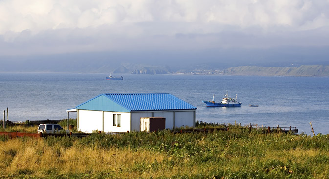 Kunashir, one of the southernmost of the Kuril Islands chain.. Source: Shutterstock