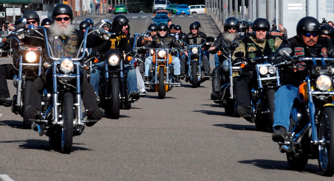 The Hells Angels may be banned in Russia. Source: EPA