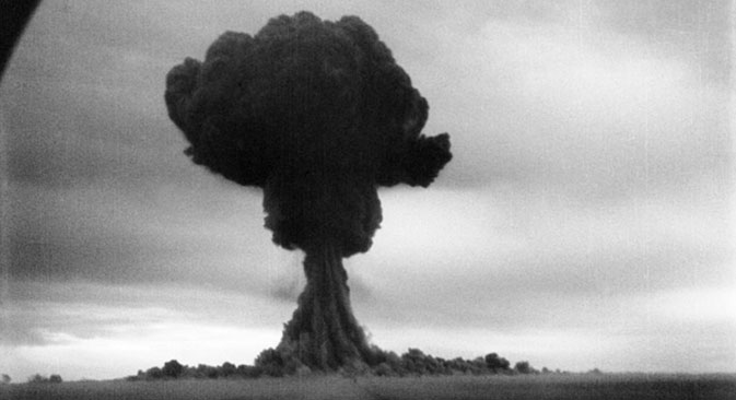 Testiranje prve sovjetske atomske bombe, poligon za nuklearna testiranja Semipalatinsk, 29. kolovoza 1949.