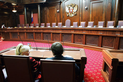 Russian courts will have the right to review legal disputes with other countries. Source: Vitaly Belousov / TASS