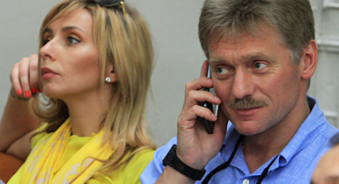 Dmitry Peskov and Tatyana Navka. Source: Vyacheslav Prokofyev / TASS